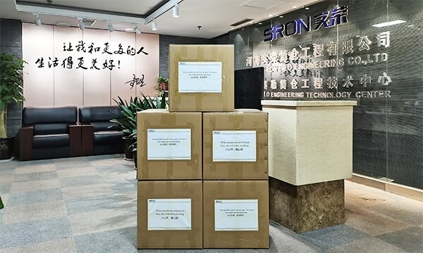 SRON DONATE FACE MASK TO FOREIGN CLIENT